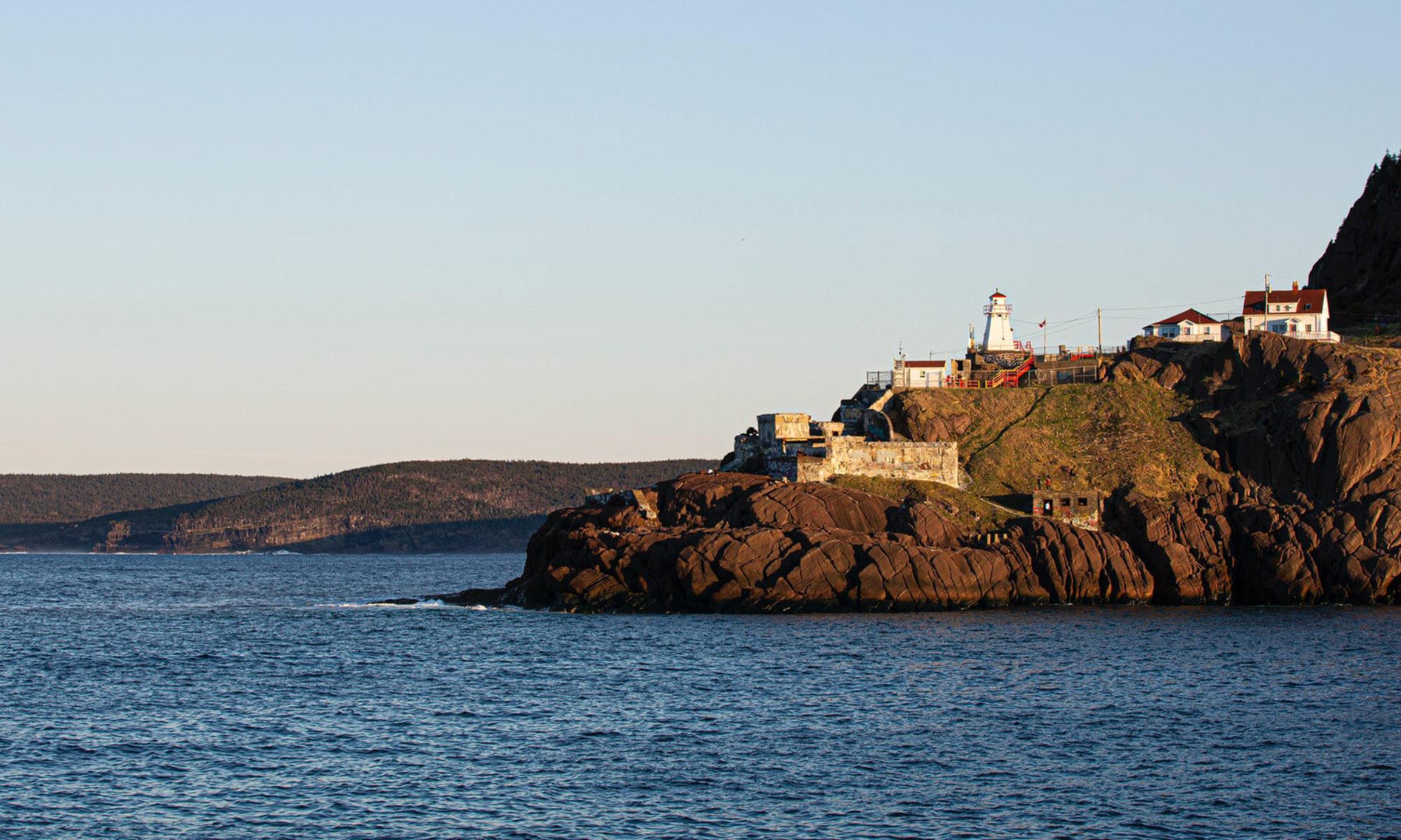 Lighthouse in St. John's harbour